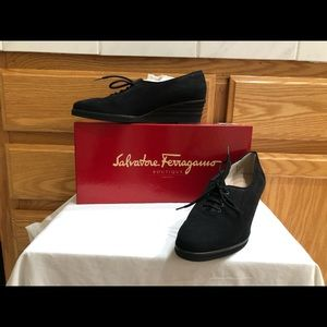 NEW Salvatore Ferragamo Wedge Sneakers